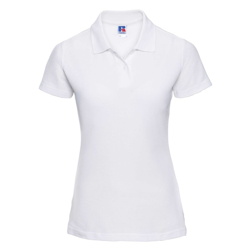 4d27018e10d67 THURSO HIGH SCHOOL WHITE LADIES FITTED POLO SHIRT WITH LOGO