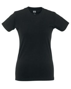 WICK HIGH SCHOOL BLACK LADIES FITTED T-SHIRT WITH PRINT LOGO