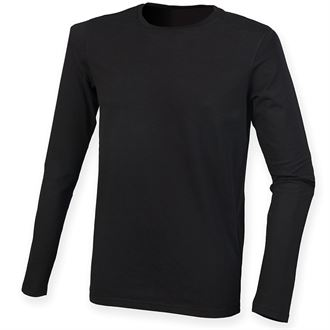 WICK HIGH SCHOOL FEEL GOOD BLACK LONG SLEEVED STRETCH T-SHIRT WITH PRINT LOGO